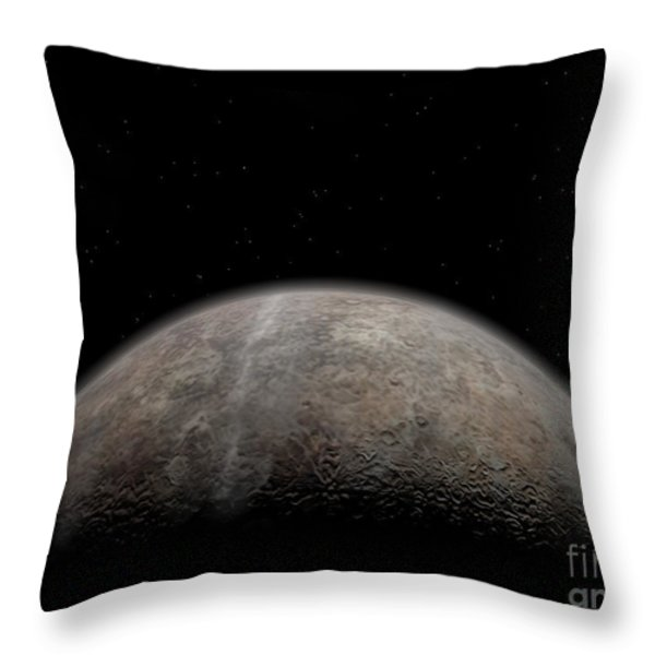 Artists Concept Of Pluto Throw Pillow by Walter Myers