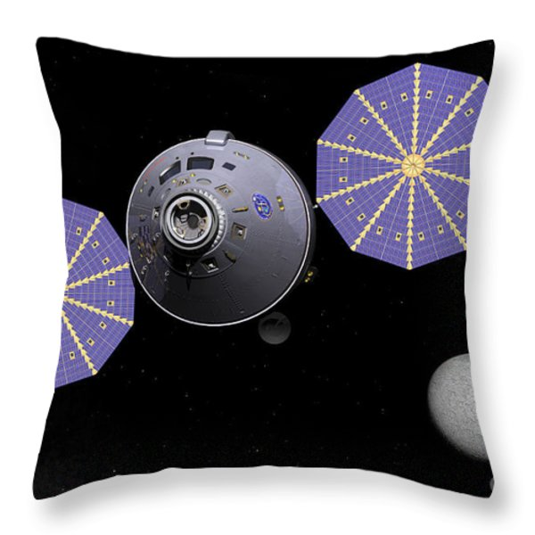 Artists Concept Of The Next Generation Throw Pillow by Walter Myers