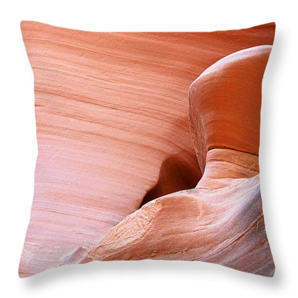 Artwork in progress - Antelope Canyon AZ Throw Pillow by Christine Till