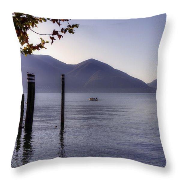 Ascona - Lago Maggiore Throw Pillow by Joana Kruse