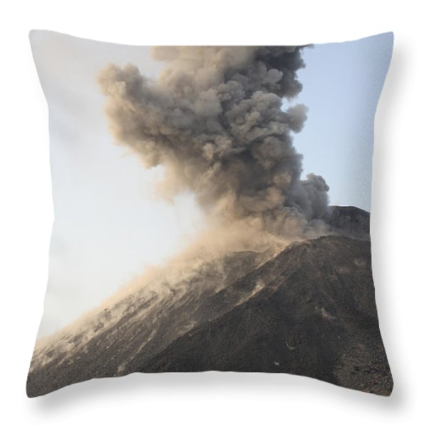 Ash Cloud From Vulcanian Eruption Throw Pillow by Richard Roscoe