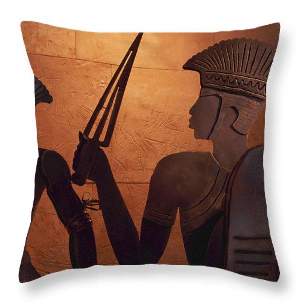 Ashkelon, Israel-philistine Exhibit Throw Pillow by Keenpress