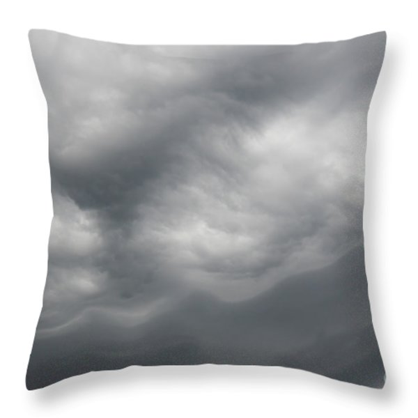 Asperatus - Sky Before Storm Throw Pillow by Michal Boubin