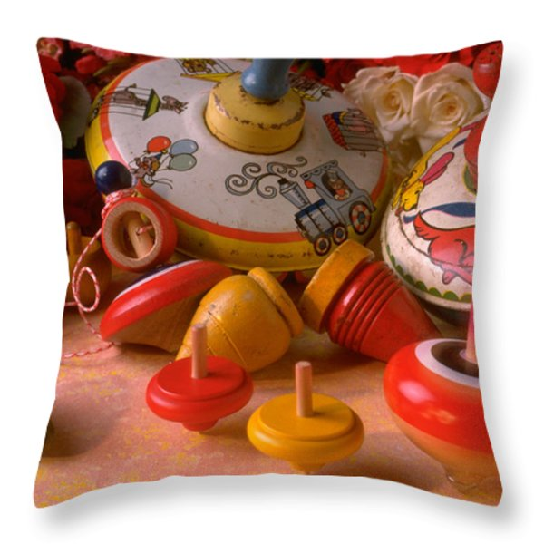Assorted Tops Throw Pillow by Garry Gay