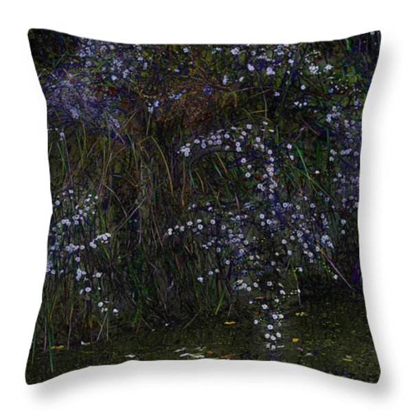 Aster Days Throw Pillow by Ron Jones