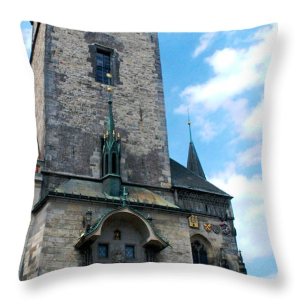 Astronomical Clock In Prague Throw Pillow by Pravine Chester