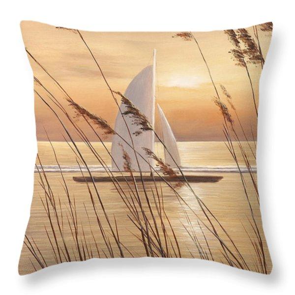 AT LAST Throw Pillow by Diane Romanello