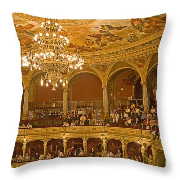 At The Budapest Opera Throw Pillow by Madeline Ellis