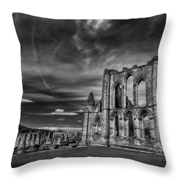 At The Dreamscape Ruins Throw Pillow by Evelina Kremsdorf