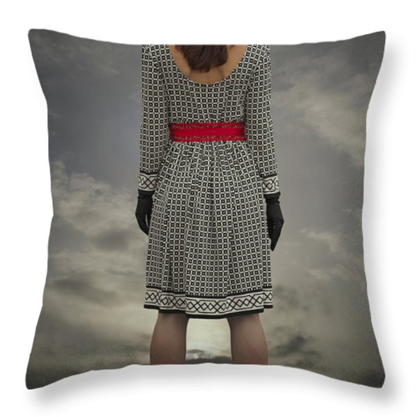 at the edge Throw Pillow by Joana Kruse
