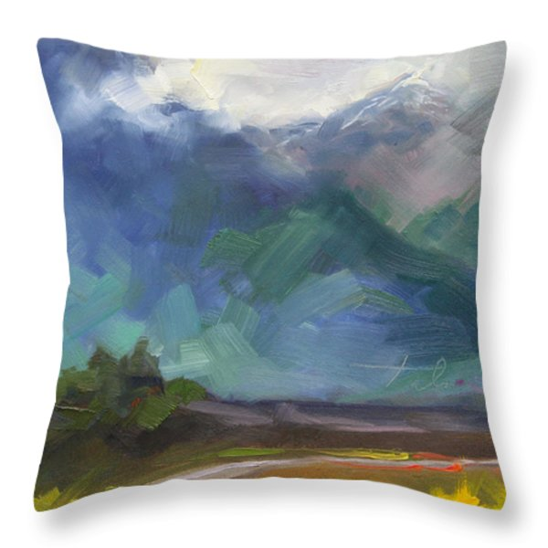 At The Feet Of Giants Throw Pillow by Talya Johnson