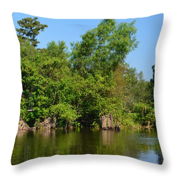 Atchafalaya Basin 46 Throw Pillow by Maggy Marsh