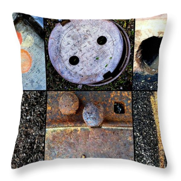 AU PAIR Throw Pillow by Marlene Burns