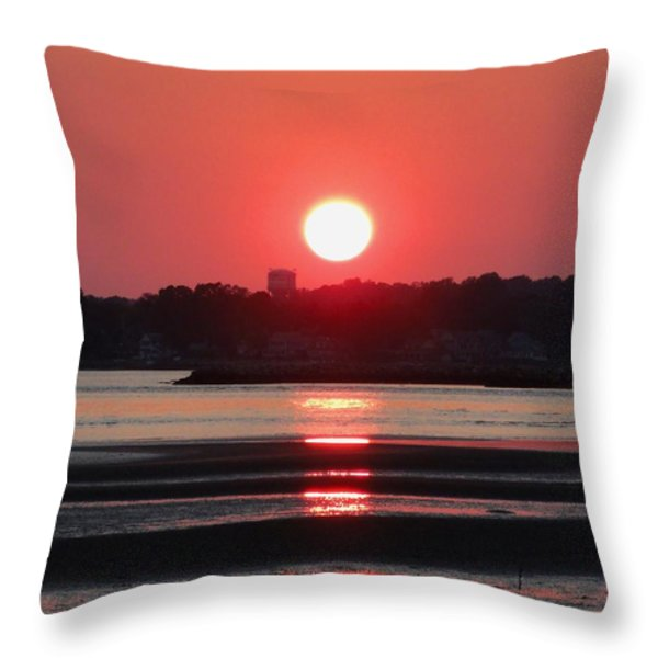 Aura of a sunset Throw Pillow by Meandering Photography