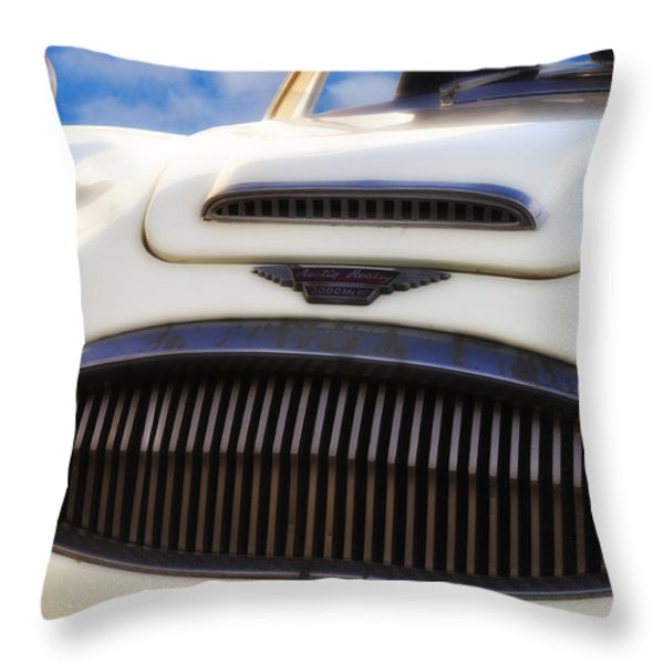 Austin Healey Throw Pillow by Bill Cannon
