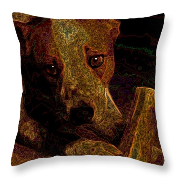 Australian Cattle Dog Throw Pillow by One Rude Dawg Orcutt
