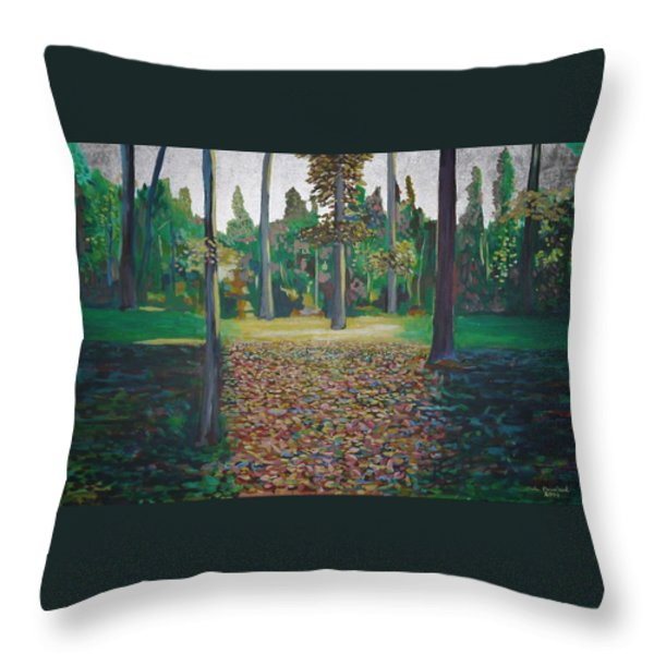 Autum Light Throw Pillow by Jarle Rosseland
