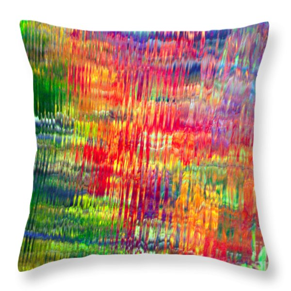 Autumn abstarcts Throw Pillow by Optical Playground By MP Ray