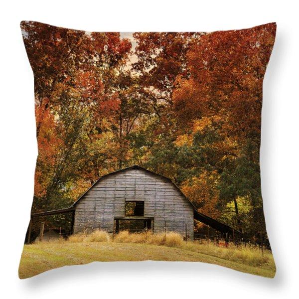 Autumn Barn Throw Pillow by Jai Johnson