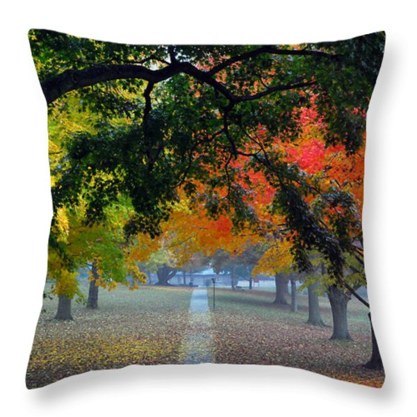 Autumn Canopy Throw Pillow by Lisa  Phillips