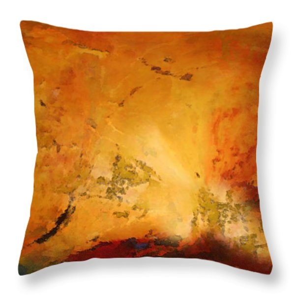 Autumn Canvas Throw Pillow by Carol Cavalaris