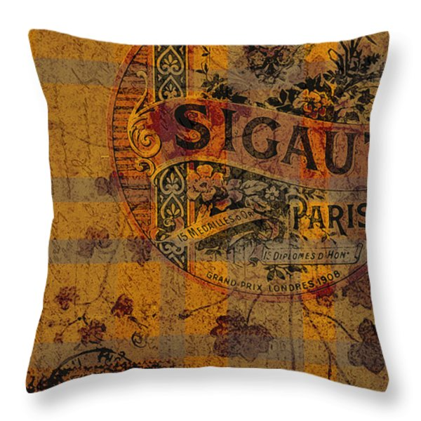 Autumn Collage Throw Pillow by Bonnie Bruno