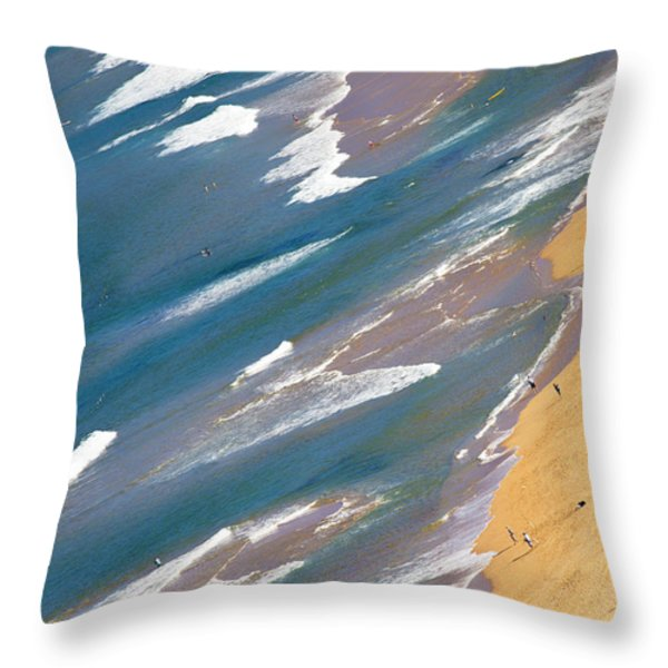 Autumn Day At Palm Beach Sydney Throw Pillow by Sheila Smart
