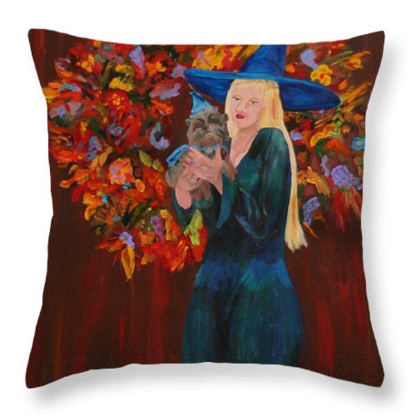 Autumn Fantasy Throw Pillow by Gail Daley