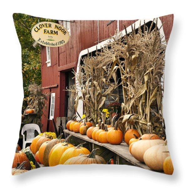 Autumn Farm Stand  Throw Pillow by John Greim