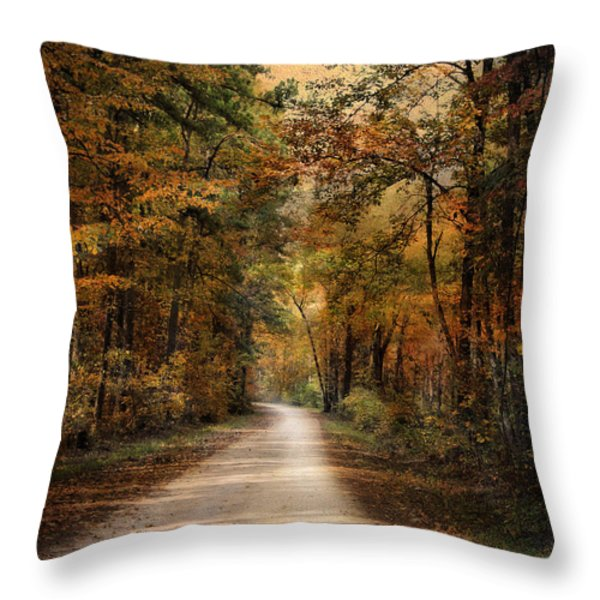 Autumn Forest 3 Throw Pillow by Jai Johnson