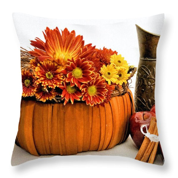 Autumn Fresh Throw Pillow by Susan Smith