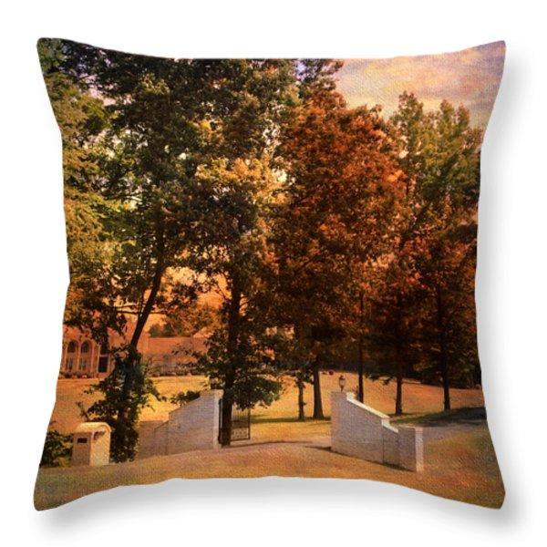 Autumn Gate Throw Pillow by Jai Johnson