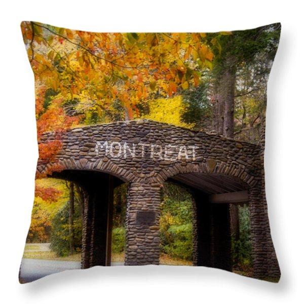Autumn Gate Throw Pillow by Joye Ardyn Durham