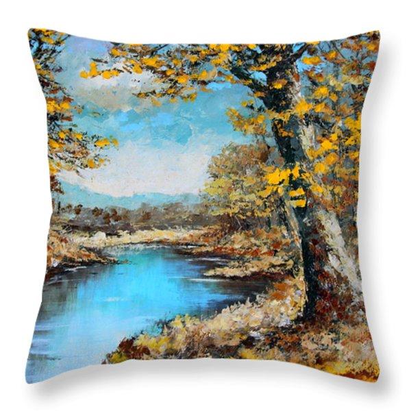 Autumn Gold Throw Pillow by Karon Melillo DeVega