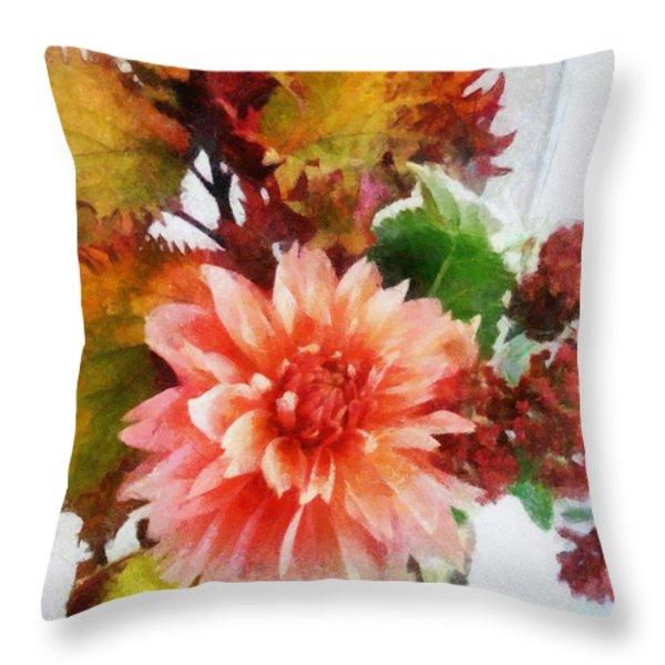Autumn Joy Throw Pillow by Michelle Calkins