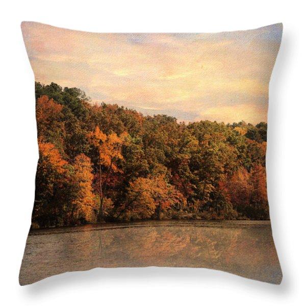 Autumn Reflections 1 Throw Pillow by Jai Johnson