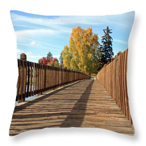 Autumn Shadows Throw Pillow by Kami McKeon