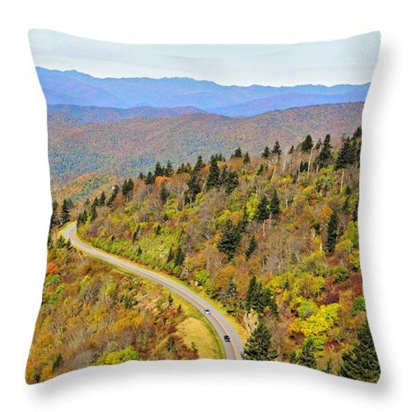 Autumn Travel Throw Pillow by Susan Leggett