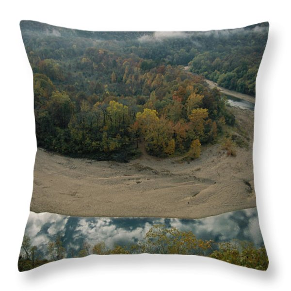 Autumnal View Of One Of The Loops Throw Pillow by Randy Olson
