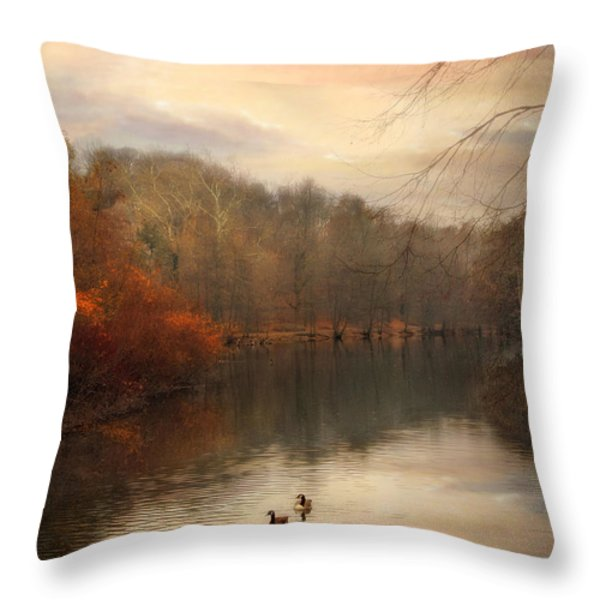 Autumn's Ebb Throw Pillow by Jessica Jenney