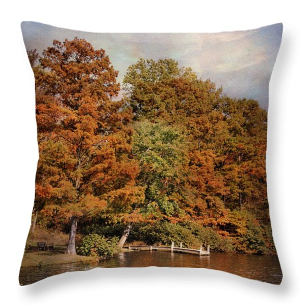 Autumn's Edge Throw Pillow by Jai Johnson