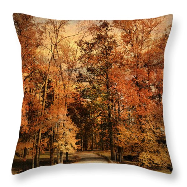 Autumn's Entrance Throw Pillow by Jai Johnson