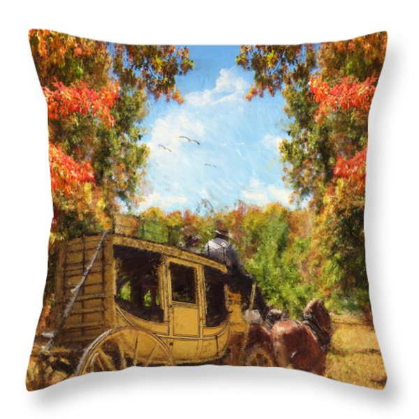 Autumn's Essence Throw Pillow by Lourry Legarde