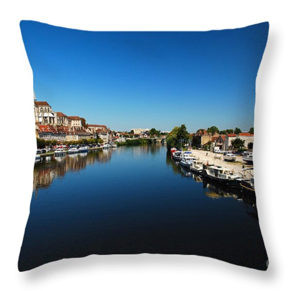 Auxerre France Throw Pillow by Hannes Cmarits