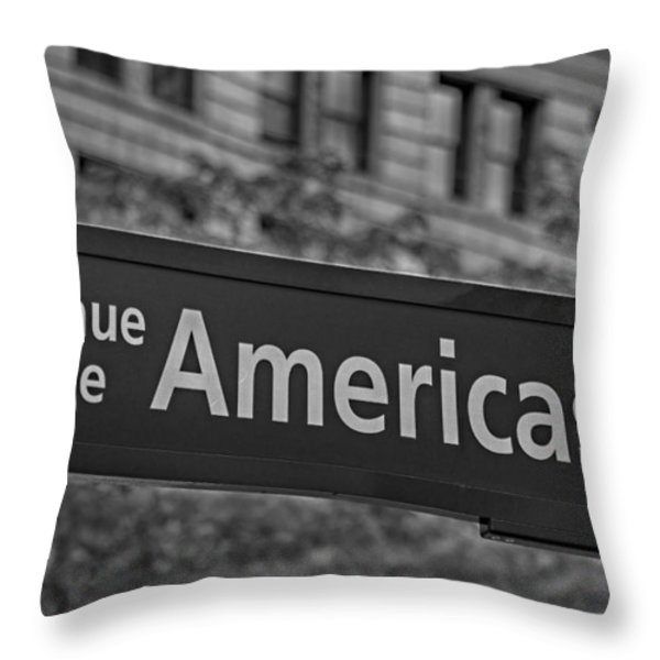 Avenue of the Americas Throw Pillow by Susan Candelario