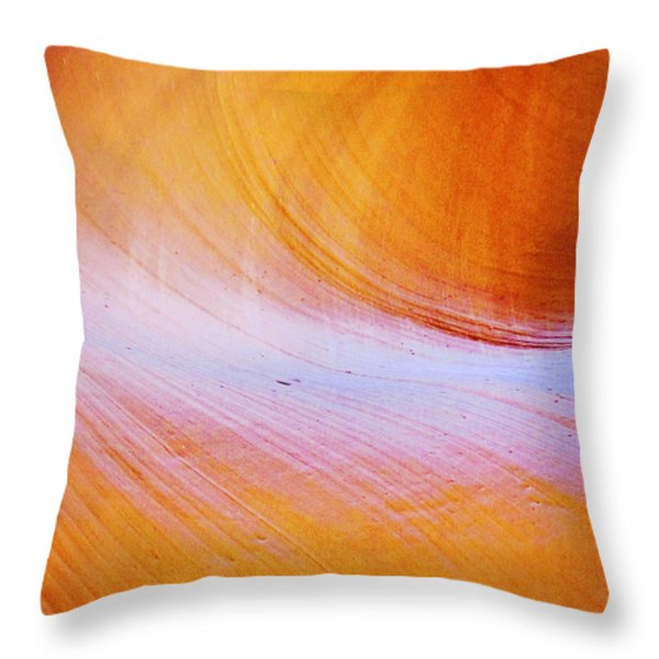 Awe-inspiring Antelope Canyon Throw Pillow by Christine Till