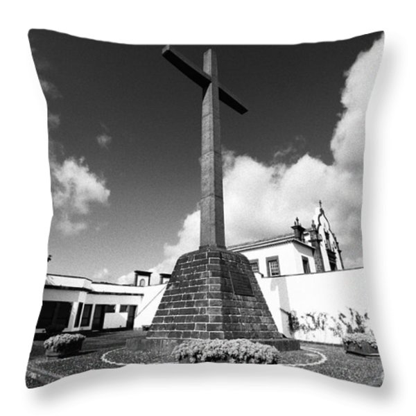 Azorean Chapel Throw Pillow by Gaspar Avila