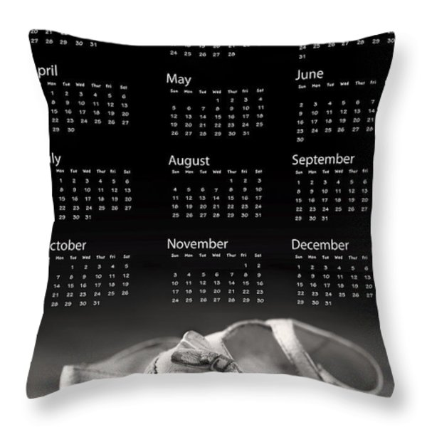 Baby shoes calendar 2013 Throw Pillow by Jane Rix