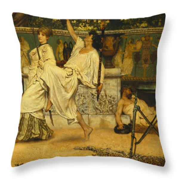 Bacchanal Throw Pillow by Sir Lawrence Alma-Tadema