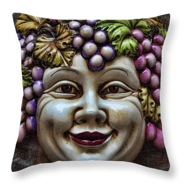 Bacchus God of Wine Throw Pillow by David Smith